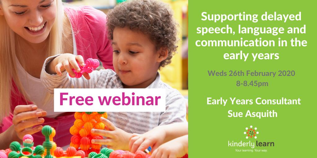 Delayed speech webinar on kinderly learn