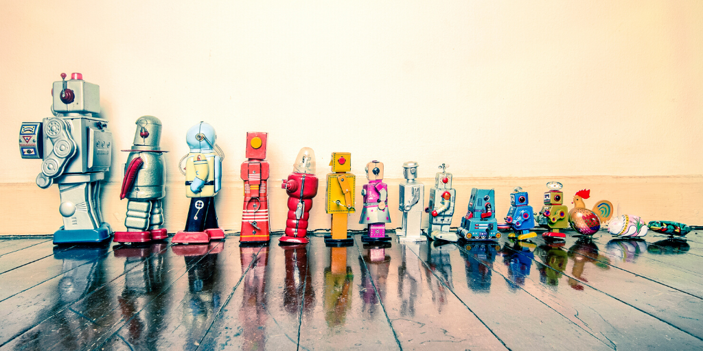Image of toys lined up