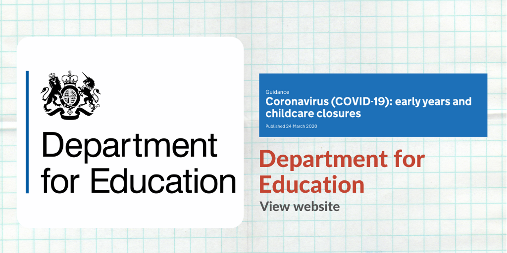 Banner with information for the Department for Education