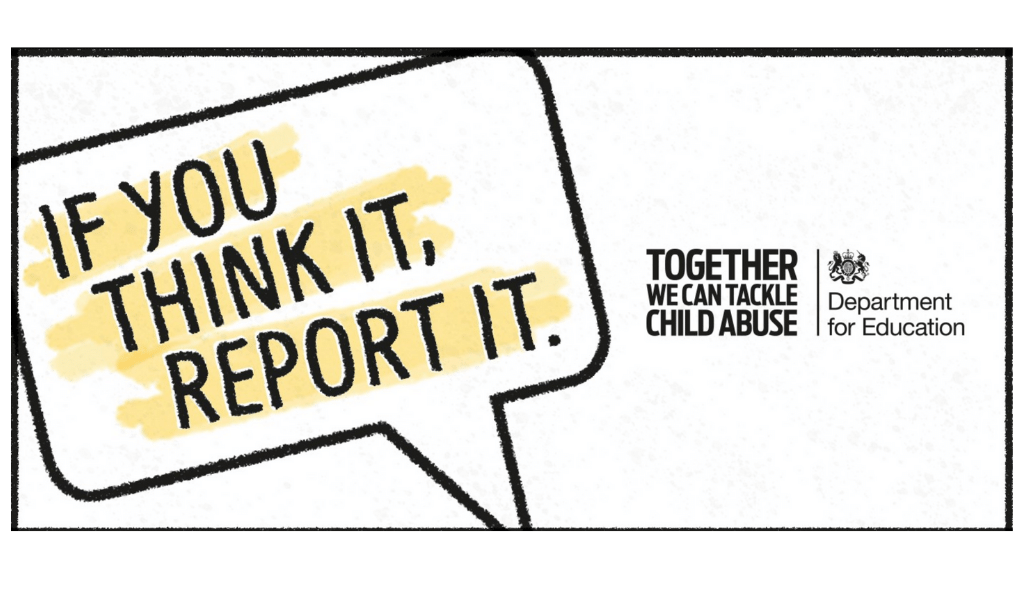 if you think it report it, Gov UK campaign