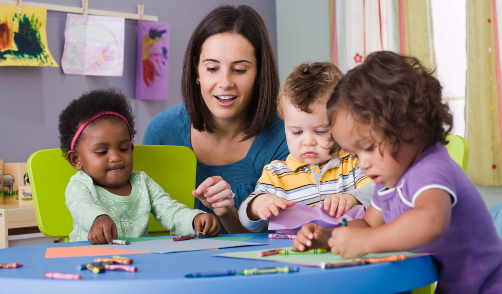 childminder in setting with children