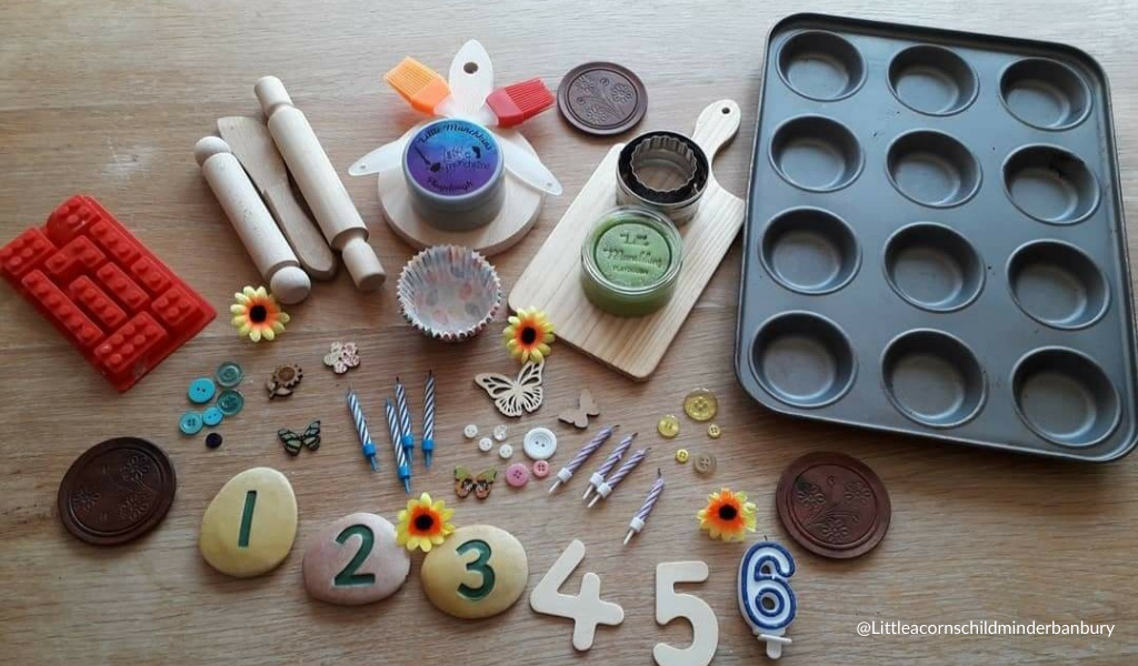 home objects used in math activities with children