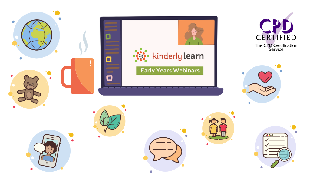computer with kinderly learn webinars