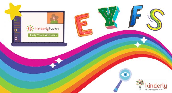 rainbow and eyfs webinar image