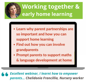 Working together and early home learning webinar