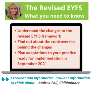 The revised EYFS: What you need to know webinar