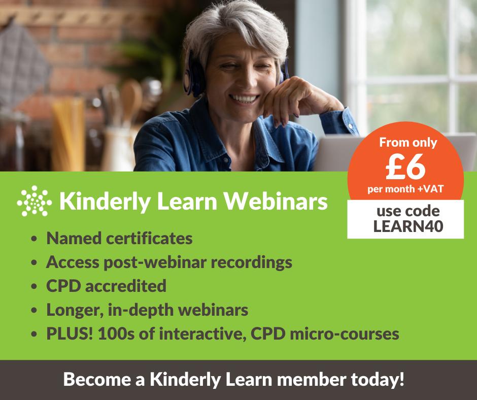 Kinderly learn advert