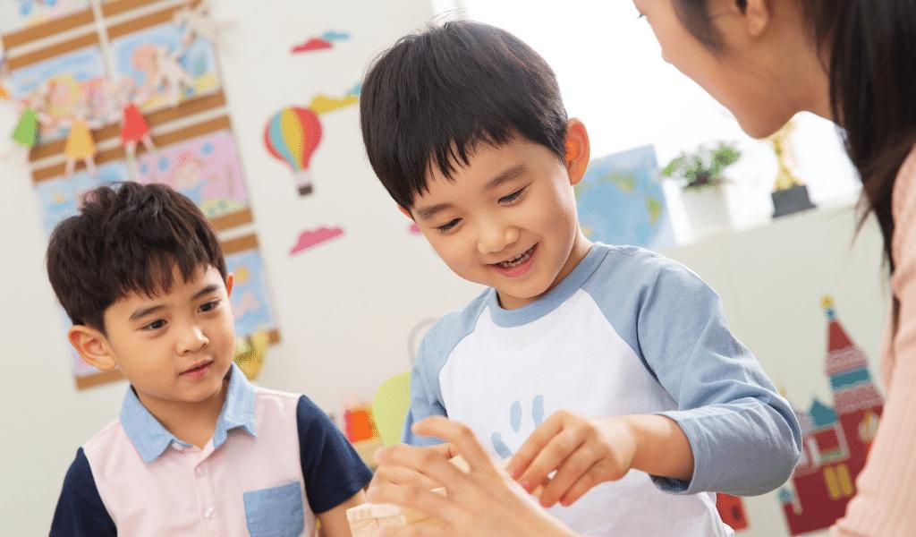 Asian children with childminder