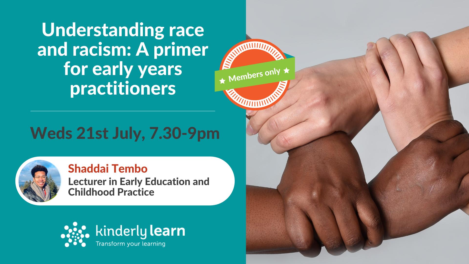 racism webinar with shaddai tembo