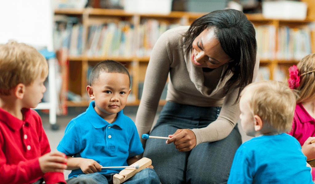 childminder with kids