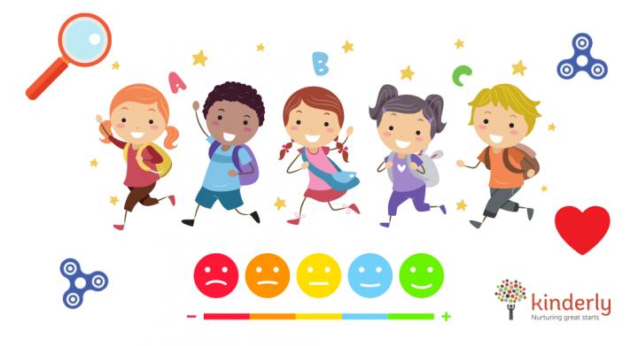 happy children walking
